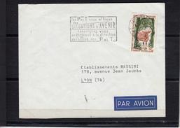 """Lettre De ABIDJAN Cote D Ivoire  Annee 1965 Antilope BONGO Seul Sur Lettre Pour LYON Cachet Pub """" HUILERIE..."""" Au Verso - Côte D'Ivoire (1960-...)"""