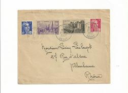 Sur LETTRE Du 13/02/1952  Utilisation Abusive De 2 Timbres Démonétisés.n° 745 Et 747....acceptés Par La Poste...à Voir - Errors & Oddities