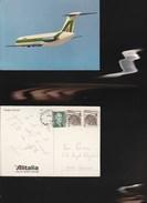 9547) ALITALIA DOUGLAS DC9-/30 VIAGGIATA 1970 DA MIAMI A GENOVA - 1946-....: Moderne