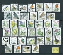 Ireland Lot Birds,oiseaux,vögel,vogels,flora,blümen,flowers Used/gebruikt/oblitere(D-122)