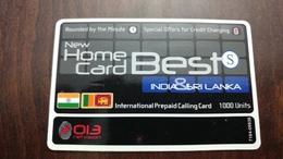 Israel-new Home Card Best S-(2)-(13.12.2011)-india And Sri Lanka-(013netvision)-used Card - Sri Lanka (Ceylon)