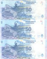 ISLAS MALVINAS - FALKLAND ISLANDS BILLETE DE 50 PESOS REPUBLICA ARGENTINA SERIES DISPONIBLES A, B Y REIMPRESION DE LA - Argentina