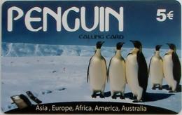 GREECE - Penguin (Animal), Prepaid Card 5 Euro ,used - Griechenland