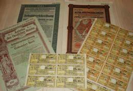 'Anleihe Des Deutschen Reiches' ~ 1918 / 1926 - Historische Dokumente