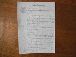 1er AVRIL 1897 BAIL PAR Mme LECHALARD Vve BREBION A NOGENT LE ROI A M. JOSEPH MONTFERME  A ORMOY DE 6ha 42a DE TERRE A O - Manuscrits