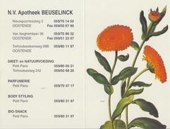 BELGIË/BELGIQUE:1998: Kalender / Calendrier De Poche @§@ Apotheek BEUSELINCK, Oostende @§@ : FLORA,KRUIDEN,HERBES,HERBS - Petit Format : 1991-00