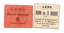 Bon De Guerre 2 Sous Et 5c De La Ville De Lens - Bons & Nécessité