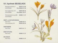BELGIË/BELGIQUE : 1998 : Kalender / Calendrier De Poche @§@ Apotheek BEUSELINCK, Oostende @§@ : FLORA,KROKUS,CROCUS, - Calendari