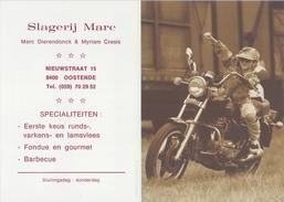 BELGIË/BELGIQUE : 1998: Kalender / Calendrier De Poche @§@ Slagerij Marc (Marc Dierendonck & Myriam Cresis)@§@ : MOTO - Petit Format : 1991-00