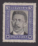 Liberia, Scott #217, Mint Hinged, President Charles Dunbar Burgess King, Issued 1923 - Liberia
