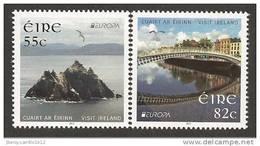 """IRLANDA / IRELAND/ EIRE--  EUROPA 2012 -TEMA ANUAL """" VISITE IRLANDA """".- SERIE De 2 V. - DENTADOS - 2012"""