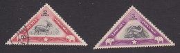 Liberia, Scott #272-273, Used/Mint Hinged, Bushbuck, West African Dwarf Buffalo, Issued 1937 - Liberia