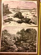 GRAVURE 1858 ENVIRONS DE PARIS FORET DE FONTAINEBLEAU LA GORGES AUX LOUPS LES SABLES D ARBONNE - Collezioni