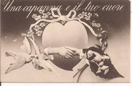 """""""UNA CAPANNA E IL TUO CUORE"""",CARTOLINA D'ALTRI TEMPI,1918,INDIRIZZO SCRITTO IN MODO PRECISO E RICERCATO,MONTEGALDELLA - - San Valentino"""