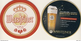 1 Bierdeckel Sous-bock, Coaster, Bierviltje WARSTEINER WINTER Neu, New, Nouveau Hiver - Sotto-boccale