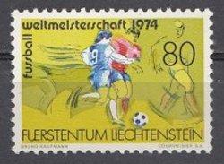 LIECHTENSTEIN   Football Soccer World Cup 1974  1v. Perf. - Coppa Del Mondo