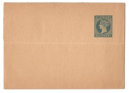 Great Britain St Vincent British Colony Victoria Postal Stationery 1/2d Newspaper Wrapper Unused - St.Vincent (...-1979)