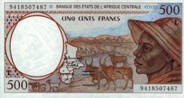East African States - Afrique Centrale Gabon 1994 Billet 500 Francs Pick 401 B Neuf 1er Choix UNC - Gabon
