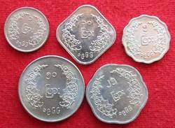 Myanmar Set - 1 5 10 25 50 Paisa 1966 Burma - Myanmar