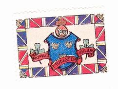 Vignette Militaire Delandre - Angleterre - Royal Munster Fusiliers - Erinnofilia