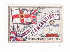 Vignette Militaire Delandre - Angleterre - South Lancashire - Erinnofilia