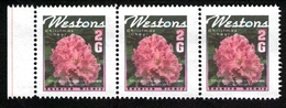 New Zealand Wine Post Rhododendron Festival. Strip Of Three 1995 - New Zealand