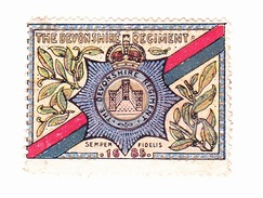 Vignette Militaire Delandre - Angleterre - The Devonshire Regiment - Erinnofilia
