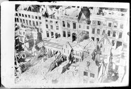"Photographie - Plaque De Verre 9x6 - Carte Postale ""Termonde - Destructions"" (B 513-1, Lot 8) - Diapositiva Su Vetro"