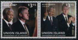 Saint Vincent Grenadines 2013 Union Island, Bill Clinton & Nelson Mandela 2v [:], (Mint NH), American Presidents - Nobel - Stamps
