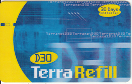 LEBANON - TerraNet Internet Prepaid Card 30 Days, Used - Lebanon