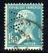 Pasteur   1,50 Cent Yv 181    Perforé   «AV» - France