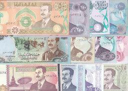 IRAQ 5 : 250 DINARS 1986 2002 ALL NOTES SADDAM HUSSAIN PORTRAIT 11 +1 AU-UNC SET - Iraq