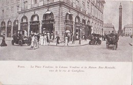 Carte  : Paris 2 ème (75) 1 Rue De Castiglione  Maison Aine Montaillé Pub Soldes Actuellement Hôtel De Vendôme - Arrondissement: 02