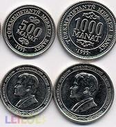 Turkmenistan Set 500 1000 Manat 1999 Unc - Turkménistan