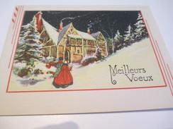 Carte De Vœux Ancienne Usagée/Canada/  Messe De Minuit/ Noël Et Jour De L'an / Bolduc/Entre 1935 Et 1955   CVE87 - Autres