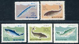 Korea 1966, SC #690-94, Sea Fish - Poissons