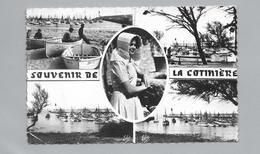 CPSM 17  SOUVENIR DE LA COTINIERE MULTI VUES BATEAUX AU PORT JEUNE FILLE OLERONAISE LE PORT DE PECHE LE PHARE - Gruss Aus.../ Gruesse Aus...
