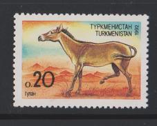 Turkmenistan Mi 2-3 Fauna - Turkmenian Kulan (Equus Hemionus Kulan) - King Cobra (Ophiophagus Hannah) 1992 * * - Turkmenistan