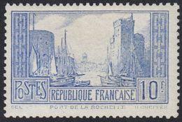 FRANCE Francia Frankreich - 1929 - Port De La Rochelle - Yvert 261b - 10 F, Neuf, Parfait, MNH - France