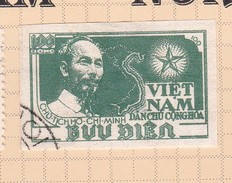 Vietnam North N4 1951 Ho Chi Min Imperforated Used $ 4.00 - Vietnam