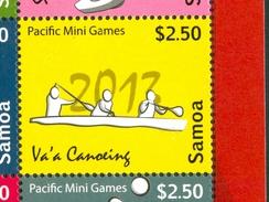 17 Vert Samoa Mini Jeux Du Pacifique Timbre Neuf XX MNH  Aviron Canoe