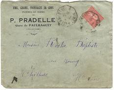 AMBULANT DE NIMES A CLERMONT 1° -5- SUR LETTRE A EN TETE DU 21/5/1930 - Marcophilie (Lettres)