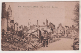 MILITARIA 1914 1918 - CAMBRAI NORD, LE RUE DES CLEFS - KEY STREET ( 3 PERSONNAGES ) EDITION DES NOUVELLES GALERIES - 1914-18