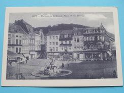 Un Coin De La Grande Place Et Rue GRIANGE / Anno 19?? ( Zie Foto Voor Details ) !! - Hoei