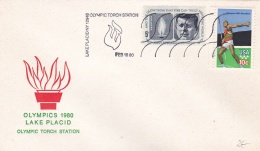 USA Cover Lake Placid Winter Olympics 1980 Olympic Torch Station (T5-18)