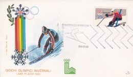 USA Cover Lake Placid Winter Olympics 1980 Whiteface MT Station (T5-18)