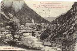 Environs D'Ax Les Thermes L'HOSPITALET  L'Eglise Et La Passerelle De Ste Suzanne ( 1445m) - France