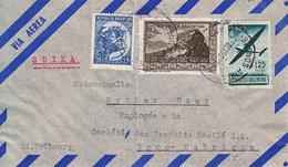 Lettre Par Avion D'Argentine Pour La Suisse, à Sté Produits Nestlé SA, Broc-Fabrique - 1951 - Argentine