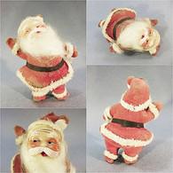 *PERE NOEL ANNEES 50'S EN CELLULOÏD - Art Populaire Sculpture Fête Tradition - Père-Noël