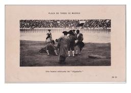 GEO-  PLAZA DE TOROS DE MADRID UNA BUEAN ESTOCADA DE ALGABENO   CPA CIRCULEE - Corridas